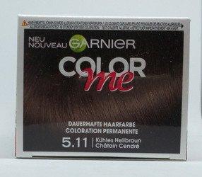 Garnier Color me Dauerhafte Haarfarbe Helles Perlmuttbraun farba  chłodny jasny brąz 5.11