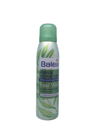 BaleaFußbutter Feel Well Dry Touch dezodoant do stóp mięta, zielona herbata