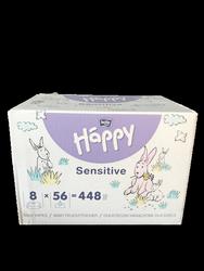 Bella Baby Happy Feuchttücher Sensitive mit Klickverschluss 8x56 szt., 448 szt. chusteczki nawilżające aloes