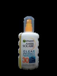 Garnier Ambre Solaire  Clear Protect + Transparents Sonnenschutzspray LSF 30 transparenty spray ochronny filtr 30