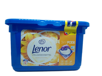 Lenor 3in1 Pods Vollwaschmittel seidene Orchidee uniwersalne kapsułki do prania 12 prań