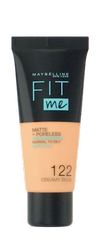 Maybelline Jade New York Fit me! Matte+Poreless mattierendes Make-up 122 Creamy Beige podkład matujący kremowy beż