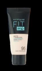 Maybelline Jade New York Fit me! Matte+Poreless mattierendes Make-up 95 Fair Porcelain podkład matujący nr 095 porcelana