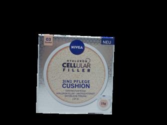 Nivea Hyaluron Cellular Filler 3in1 Pflege Cushion getöntes Fluid-Kissen 03 Dunkel podkład do twarzy 03 ciemny