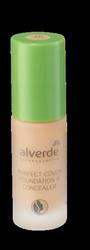 alverde Naturkosmetik Perfect Cover Foundation & Concealer Caramel 40 podkład do twarzy karmel