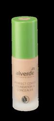 alverde Naturkosmetik Perfect Cover Foundation & Concealer Champagne 30 podkład do twarzy szampański