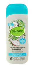 alverde Naturkosmetik Shampoo Feuchtigkeit szampon do włosów suchych, zniszczonych bio mleko kokosowe