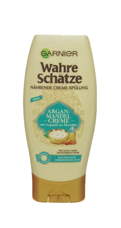 Garnier wahre Schätze Argan-Mandel Creme nährendes Creme-Spülung odżywka migdały i olej arganowy
