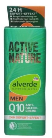 Alverde Men Naturkosmetik Q10 Anti-Falten Creme krem przeciwzmarszczkowy dla mężczyzn