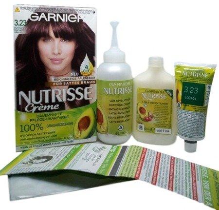 Garnier Nutrisse Creme Coloration Dunkles Diamantbraun 3.23 farba do włosów ciemny diamentowy brąz nr 3.23