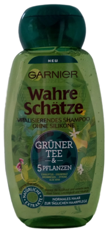 Garnier Wahre Schätze Vitalisierende Shampoo Grüner Tee&5 Pflanzen szampon zielona herbata