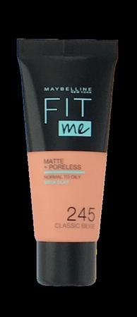Maybelline Jade New York Fit me! Matte+Poreless mattierendes Make-up 245 Classic Beige podkład matujący klasyczny beż