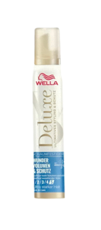 Wella Deluxe Schaumfestiger Wunder Volumen & Schutz ultra ekstra mocna piankia na objętość