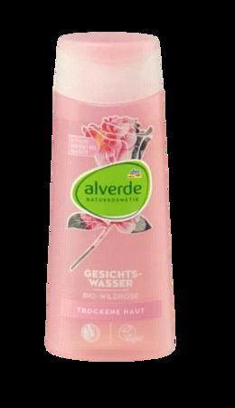 alverde Gesichtswasser Bio-Wildrose tonik dzika róża cera sucha, bardzo sucha
